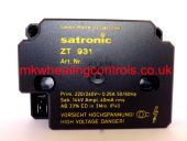 Satronic ZT931 110V IGNITION TRANSFORMER Single Output
