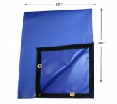 "Large Blue Bag Actuator Cover 12"" x 16"""