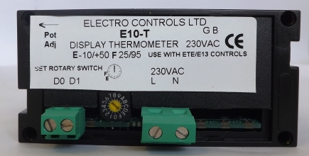 E10-T DISPLAY -10/+50 OR 25/95 FOR ETE/E13