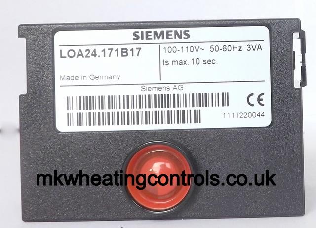 Siemens Landis Loa24 171b17 110v Control Box C21149g