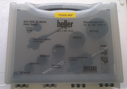 HLEA06 BI-METAL HOLESAW ELECTRICIANS KIT